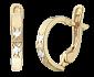 Серебряные сережки с фианитами Ванита SLX--С3Ф/105