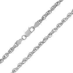 Серебряная цепь с родированием, 3 мм 000026202