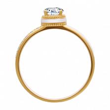 Золотое кольцо с бриллиантами и эмалью Белая королева