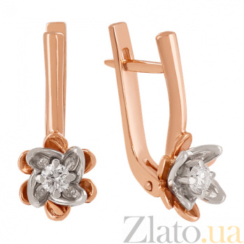 Золотые сережки с фианитами Лайл VLN--213-1598