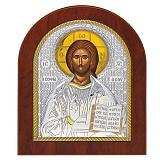 Серебряная икона Спаситель