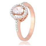 Позолоченное серебряное кольцо с цирконием Римма