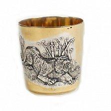 Серебряный стакан Тигр