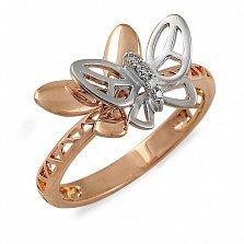 Золотое кольцо Бабочки с бриллиантами