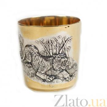 Серебряный стакан Тигр 461