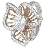 Кольцо из серебра Горицвет с фианитами
