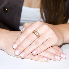 Обручальное кольцо из красного золота Всегда вместе