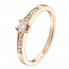 Золотое кольцо Эвита с бриллиантами