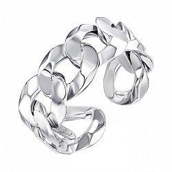 Серебряное разомкнутое кольцо 000137560