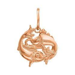 Кулон из красного золота Знак Зодиака Рыбы 000121523