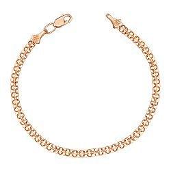 Золотой браслет Лила в плетении двойной якорь, 3мм