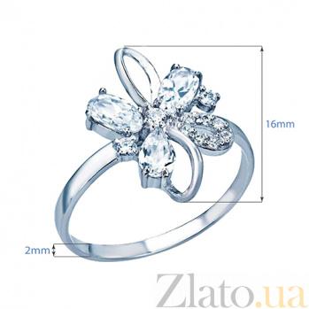 Серебряное кольцо с фианитами Адиссон 000026975