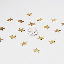 Серебряное плетеное кольцо на фалангу Соединение