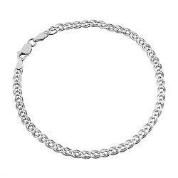 Серебряный браслет с родием, 5 мм 000026124