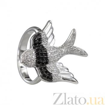 Серебряное кольцо с фианитами Полет фантазии 000026555