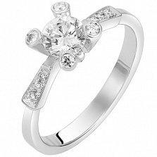 Кольцо из белого золота Промис с бриллиантами