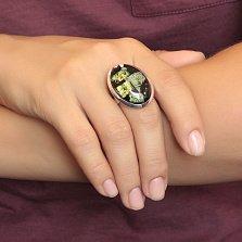 Серебряное кольцо Отражения с имитацией опала