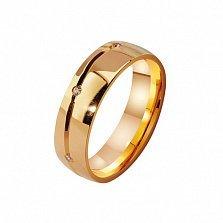 Женское золотое обручальное кольцо Магия с фианитами