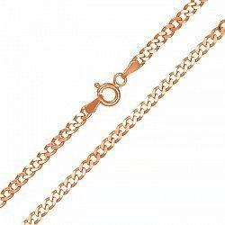 Серебряная цепочка с позолотой, 1мм 000026200