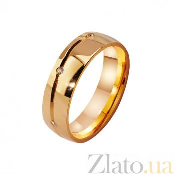 Женское золотое обручальное кольцо Магия с фианитами TRF--4121096