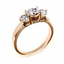 Золотое кольцо с бриллиантами Сияние