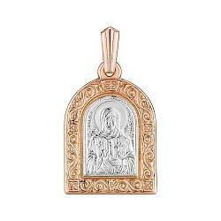 Золотая ладанка в комбинированном цвете Святая Матрона 000147784