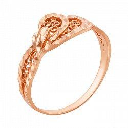 Золотое кольцо Алла с алмазной гранью