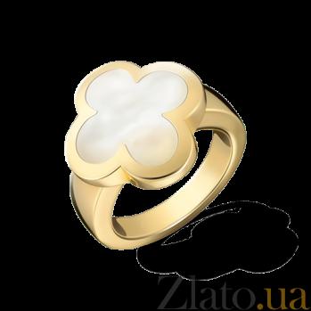 Кольцо желтого золота с белым перламутром Alhambra R-VCA-Algamra-E-nacre(W)