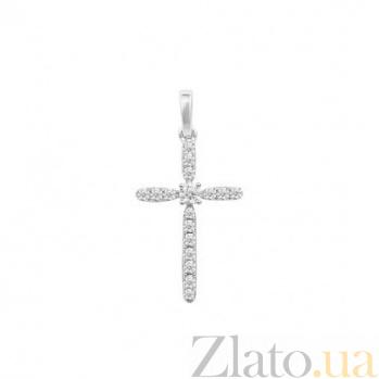 Золотой крестик Леона с бриллиантами 000081080