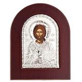 Икона Иисус Христос серебряная