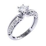 Золотое помолвочное кольцо Арабеска с бриллиантом