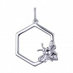 Серебряный кулон Пчелка 000113697