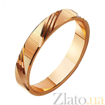 Золотое обручальное кольцо Вечная страсть TRF--411029