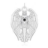 Серебряный подвес с цирконием Рыцарство