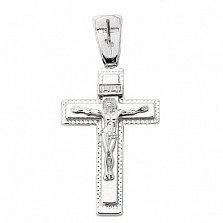 Крестик из серебра Силы Небесные ІНЦІ с родированием