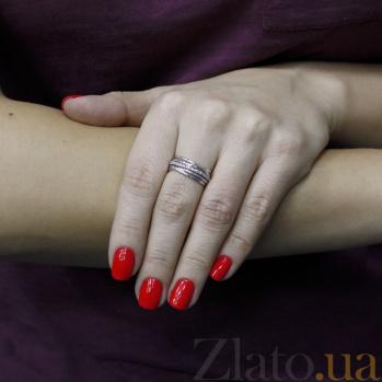 Серебряное кольцо Путь любви с фианитами 000097193