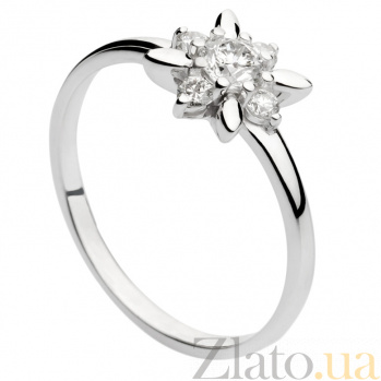 Кольцо из белого золота с бриллиантами Звезда 000030499