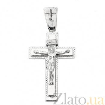 Крестик из серебра Силы Небесные ІНЦІ с родированием HUF--3101-МР.ин