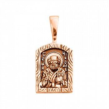Ладанка из красного золота с чернением 000132167