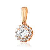 Золотой подвес с кристаллами Swarovski Ирма