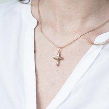 Крестик Благодушие в красном золоте