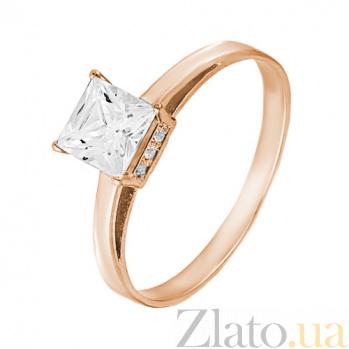 Золотое кольцо Принцесса SVA--1100871101/Фианит/Цирконий