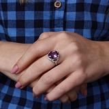 Серебряное кольцо Айседора с аметистом и фианитами