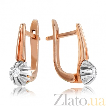 Золотые серьги с бриллиантами Джуна EDM--С7520