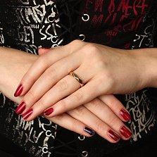 Обручальное кольцо Фасет в красном золоте с граненой шинкой в стиле Бушерон