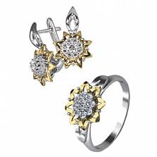 Золотой гарнитур с бриллиантами Юна