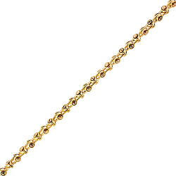 Золотая цепь Baraka Гильберт из комбинированного золота 000033503