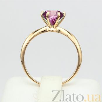 Золотое кольцо с аметистом Патрисия 000027260