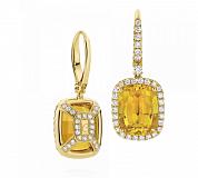 Серьги Argile-Z с цитринами и бриллиантами