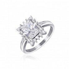 Серебряное кольцо с фианитами Глэдис